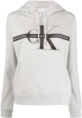 Calvin Klein Jeans Logo Tape Cotton Hoodie