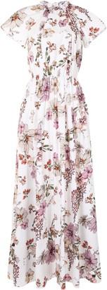 Adam Lippes Floral Poplin Dress