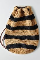 American Eagle Outfitters AE Crochet Straw Backpack