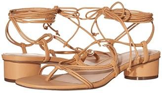 J.Crew Leather Lace-Up Strappy Alyssa Sandal (Vachetta) Women's Sandals