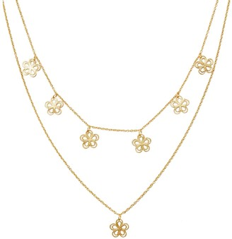 Amorcito Gold Flower Child Layered Necklace