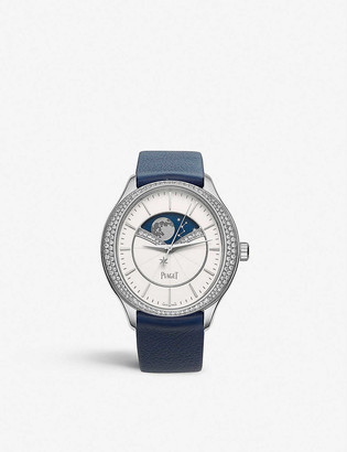 Piaget G0A40111 Limelight Stella 18ct white-gold, diamond and leather watch