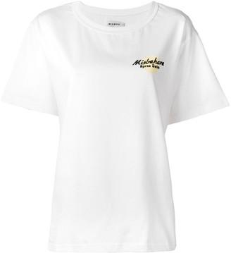 Misbhv white logo T-shirt
