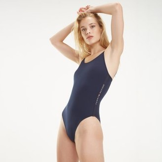 Tommy Hilfiger Low Back One-Piece Swimsuit