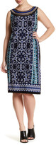Sandra Darren Printed Sleeveless Dress (Plus Size)