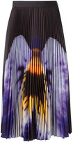 Christopher Kane pansy print midi skirt - women - Silk/Polyester/Acetate - 40