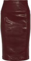 Zero+MariaCornejo Nobi stretch-leather pencil skirt