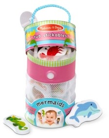 Melissa & Doug Melissa Doug Tub Stickables - Mermaids Soft Shapes Bath Toy, 20 Foam Pieces