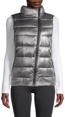 Dkny Sport Asymmetric-Zip Down Puffer Vest