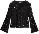 Epic Threads Metallic-Print Peasant Shirt, Big Girls (7-16), Only at Macy's