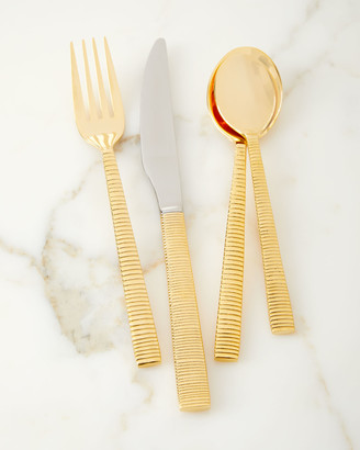 Towle Silversmiths 16-Piece Gold Plated Abbott Flatware Set