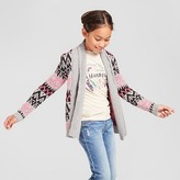 Cat & Jack Girls' Texture Open Cardigan Cat & Jack - Grey