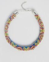 Asos Beaded Stone Tube Necklace