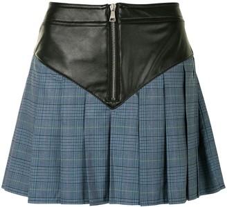 Natasha Zinko Panelled Pleated Mini Skirt