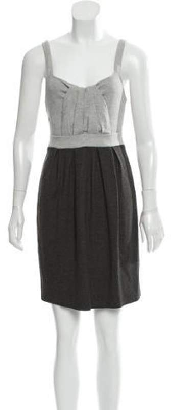 Ella Moss Pleated Mini Dress w/ Tags Grey Pleated Mini Dress w/ Tags
