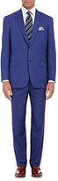 Brioni Men's Twill Two-Button Suit-BLUE
