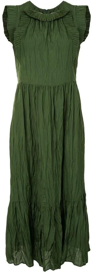 Sea Sleeveless Creased Effect Dress