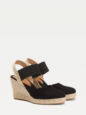 Tommy Hilfiger Suede Monogram Closed Toe Wedges