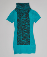 Dollhouse Teal & Black Sweater Dress - Infant