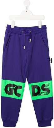 Gcds Kids Panelled Logo Track Trousers
