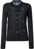 Dolce & Gabbana lace appliqué cardigan - women - Silk/Cotton/Polyamide/Cashmere - 38