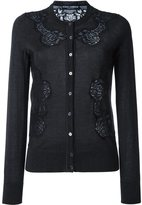 Dolce & Gabbana lace appliqué cardigan - women - Silk/Cotton/Polyamide/Cashmere - 42