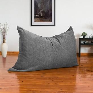 Latitude Run Large Bean Bag Chair & Lounger Upholstery: Gray