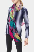 Joules Pink Floral Scarf