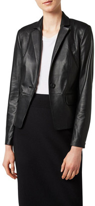 David Lawrence Aria Leather Blazer