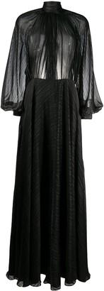 Ports 1961 Metallic Detail Maxi Dress