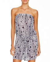 Milly Chain Print Romper Swim Cover Up