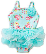 Little Me Baby Girls 6-24 Months Floral-Printed One-Piece Tutu Swimsuit