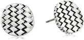 The Sak Basket Weave Silver Stud Earrings