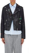 "Mira Mikati Women's ""Dance All Night"" Leather Moto Jacket-BLACK"