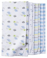 Gerber Baby Boys' 4 Pack Flannel Blanket Set Dinos