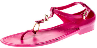 Ralph Lauren Fuschia Pink Jelly Karly Ankle Strap Sandals Size 41