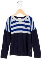Armani Junior Boys' Striped Knit Sweater