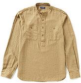 Polo Ralph Lauren Linen Blend Utility Long-Sleeve Woven Shirt
