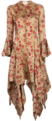 KHAITE Asymmetric Floral Dress