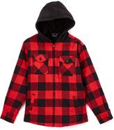 Burnside Red Alpine Sherpa Flannel Jacket - Boys