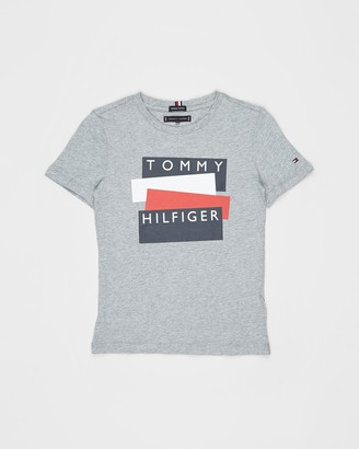 Tommy Hilfiger SS Sticker Tee - Teens