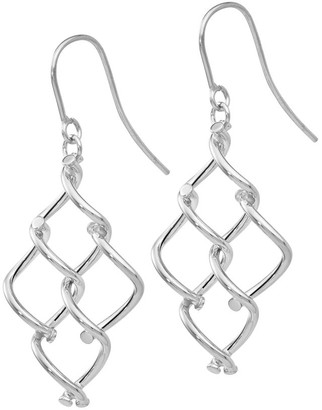 Italian Gold Chandelier Twisted Dangle Earrings, 14K