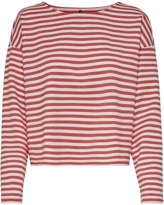 Only Stripe Long-Sleeve Sweatshirt