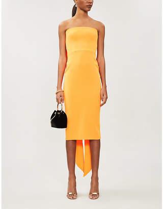 Alex Perry Hall strapless draped crepe midi dress