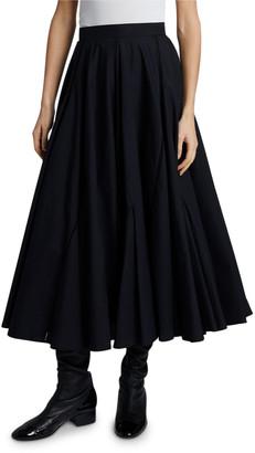 Loewe Pleated Fit-&-Flare Skirt