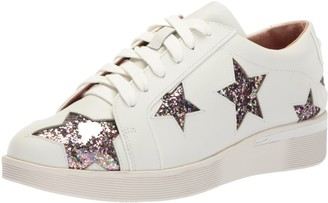 Gentle Souls by Kenneth Cole Women's Haddie Multi Glitter Star LACE UP Platform Wedge Sneaker Shoe