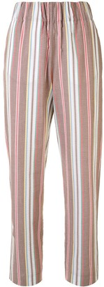 Colombo High-Waist Striped Trousers