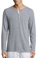 Onia Miles Heathered Henley