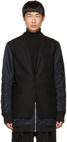 Juun.J Black Blazer Coat