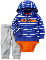 Carter's 3-Pc. All-Star Hoodie, Bodysuit & Pants Set, Baby Boys (0-24 months)